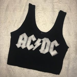 FOREVER 21 ACDC Crop Top [Size L]